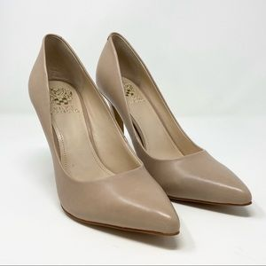Vince Camuto // Nude Leather Kain Heels